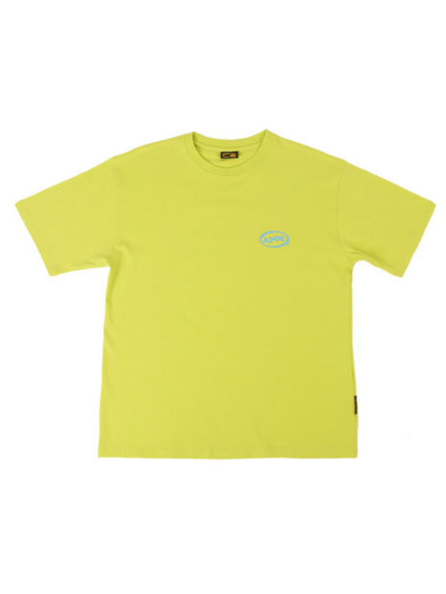 [APOC]Oval Logo 1/2 T-shirts_Lime