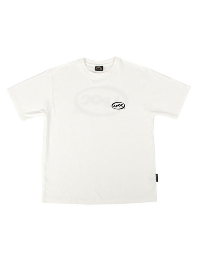 [APOC]Oval Logo 1/2 T-shirts_White