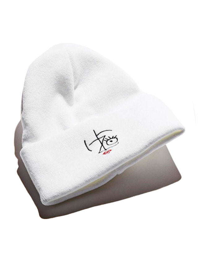 [IZRO] IZRO PENCIL BEANIE - WHITE