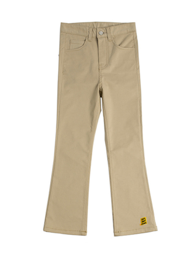 [ROMANTICCROWN] AMBROID BOOTS CUT SLACKS BEIGE