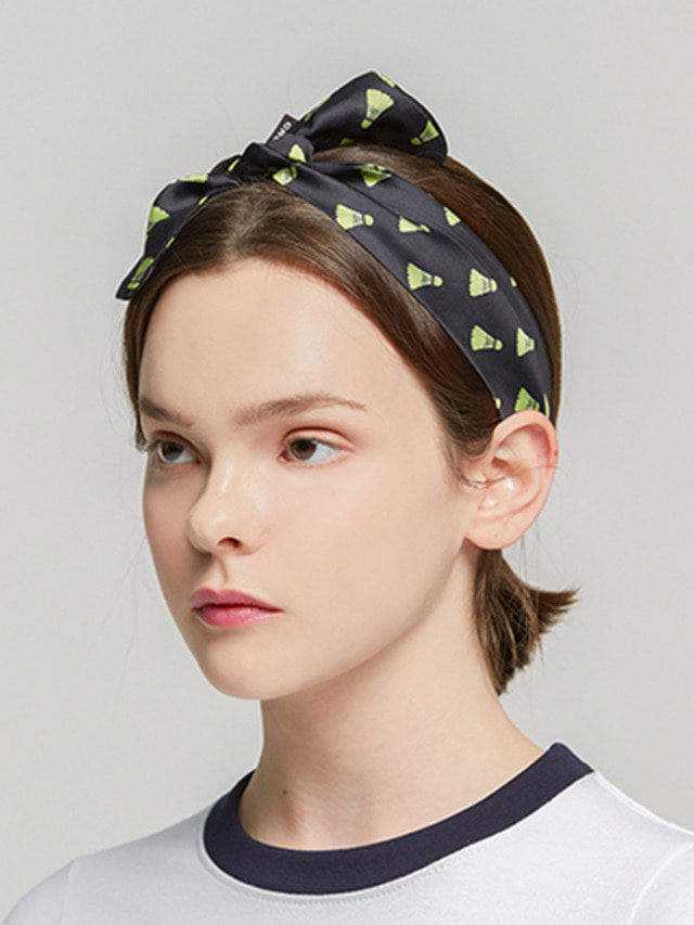[ROMATIC CROWN] SHUTTLECOCK HAIRBAND BLACK