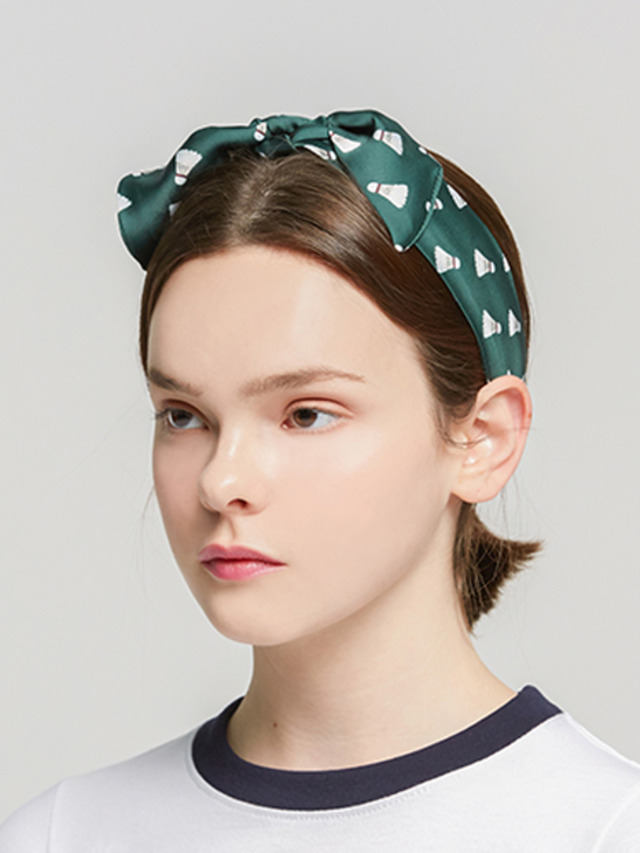 [ROMATIC CROWN] SHUTTLECOCK HAIRBAND GREEN