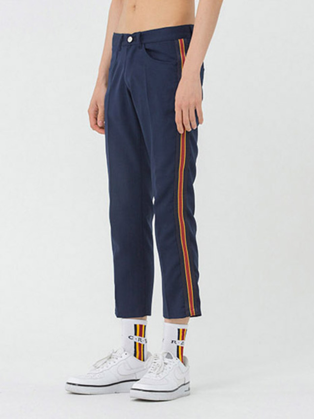 [ROMANTIC CROWN] BAND LINE SLACKS NAVY