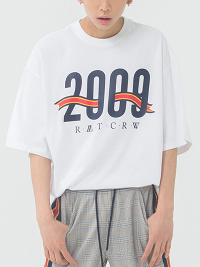 [ROMANTICCROWN] 2009 FLAG T-SHIRT WHITE