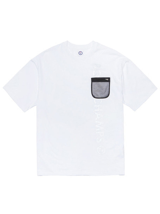 [BORNCHAMPS] NET REFLECTIVE TEE CERBMTS11WH