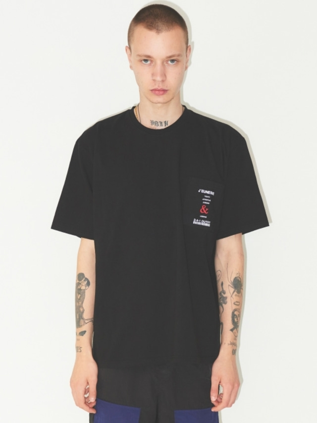 [JEUNESS] POCKET T-SHIRTS BLACK