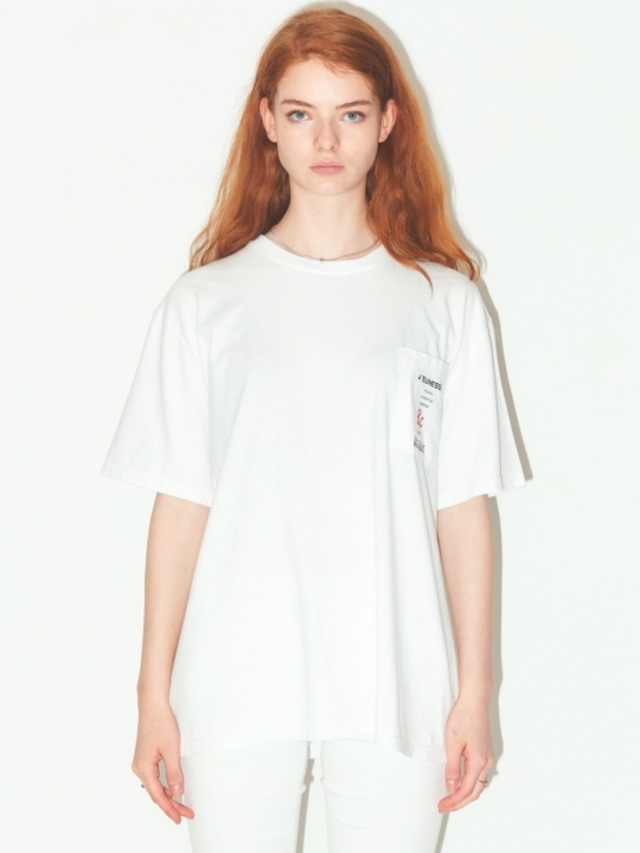 [JEUNESS] POCKET T-SHIRTS WHITE