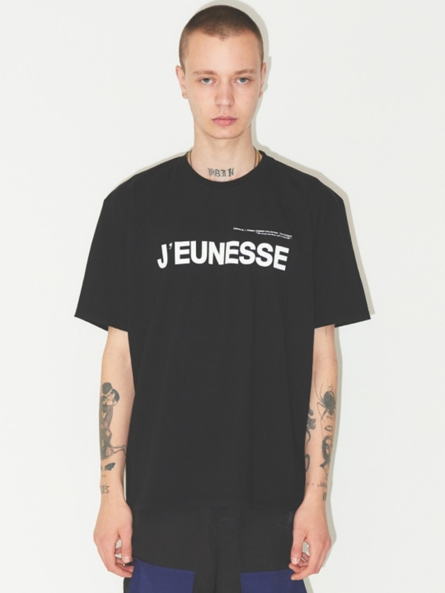 [JEUNESS] SIGNATURE LOGO T-SHIRTS BLACK