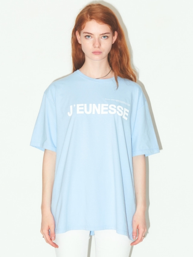 [JEUNESS] SIGNATURE LOGO T-SHIRTS SKYBLUE