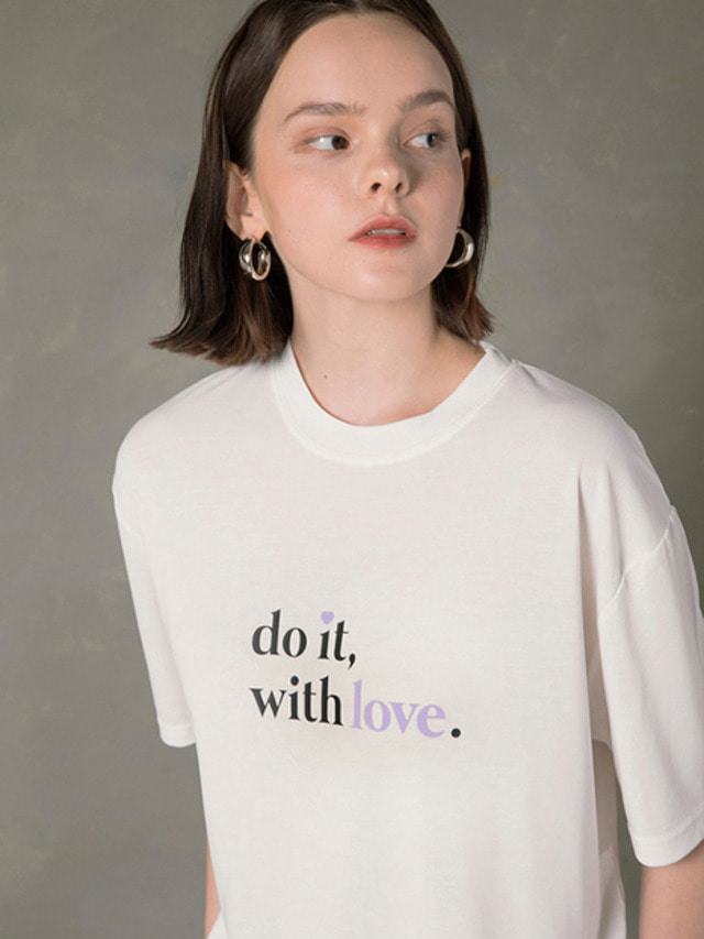 [NUPARCC]DO IT WITH LOVE CAMPAIGN TEE WHITE