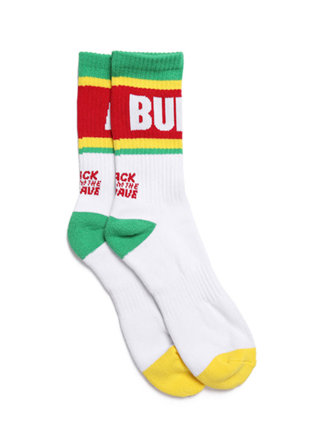 [BURIEDALIVE]BA ALIVE SOCKS WHITEGREEN