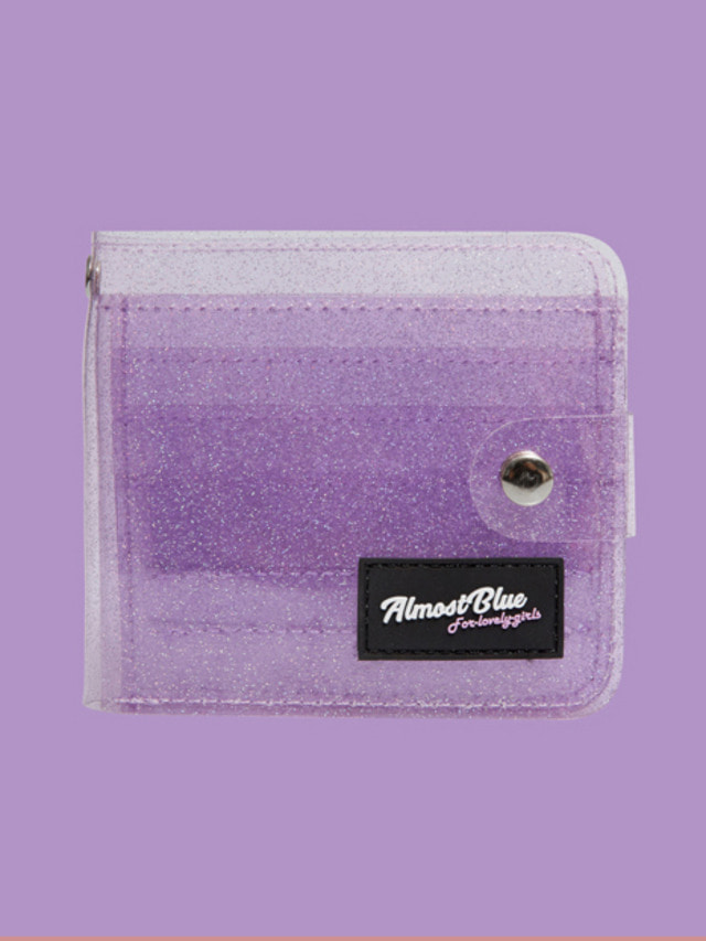 [ALMOST BLUE] TWINKLE JELLY WALLET PURPLE 7/26発送予定