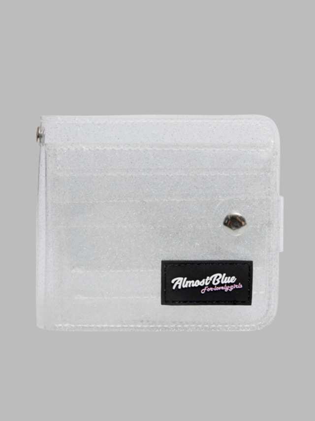 [ALMOST BLUE] TWINKLE JELLY WALLET WHITE