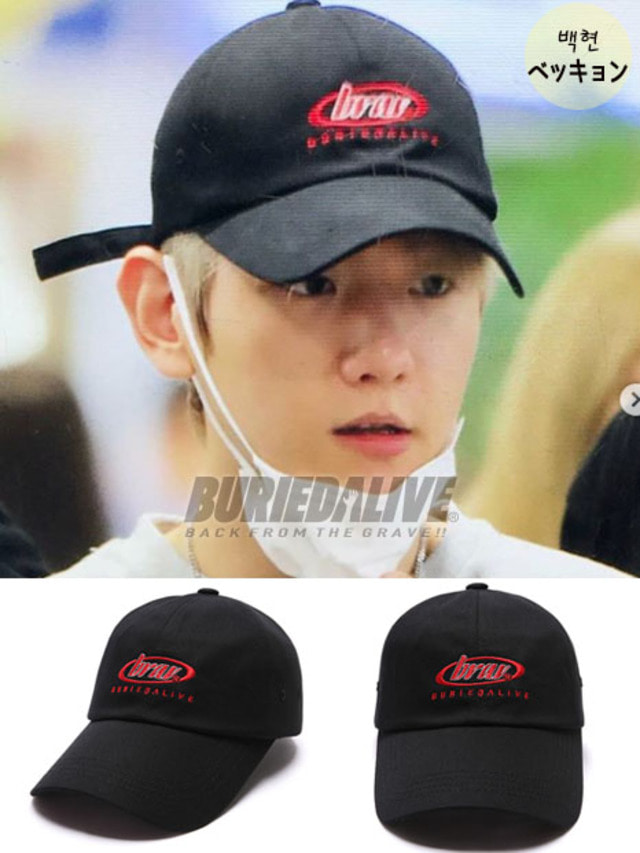 [EXO ITEM]BA CIRCLE LOGO CAP BLACK