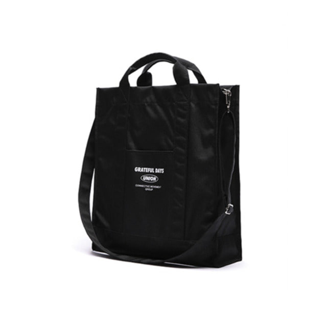 [UNIONOBJET]UNIONOBJET OVER SIZE CROSS BAG BLACK