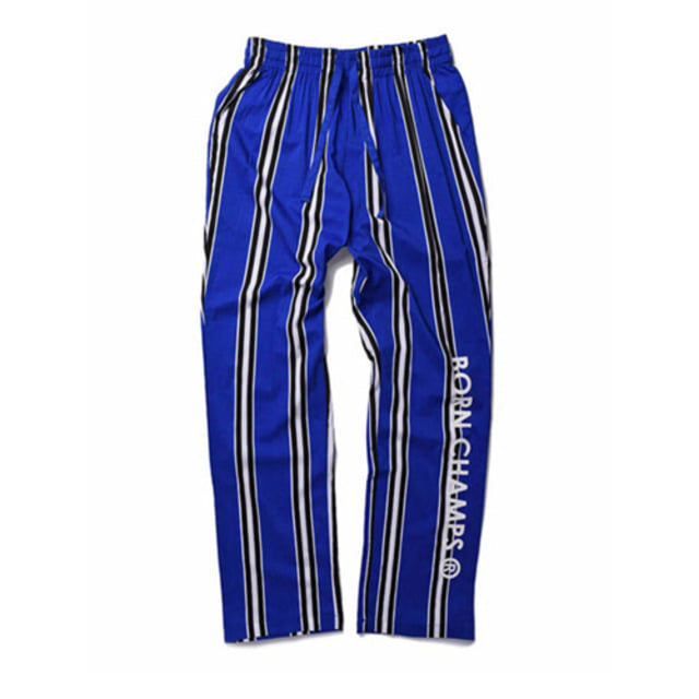 [BORN CHAMPS]BC LARGE STRIPED PANT BLUE