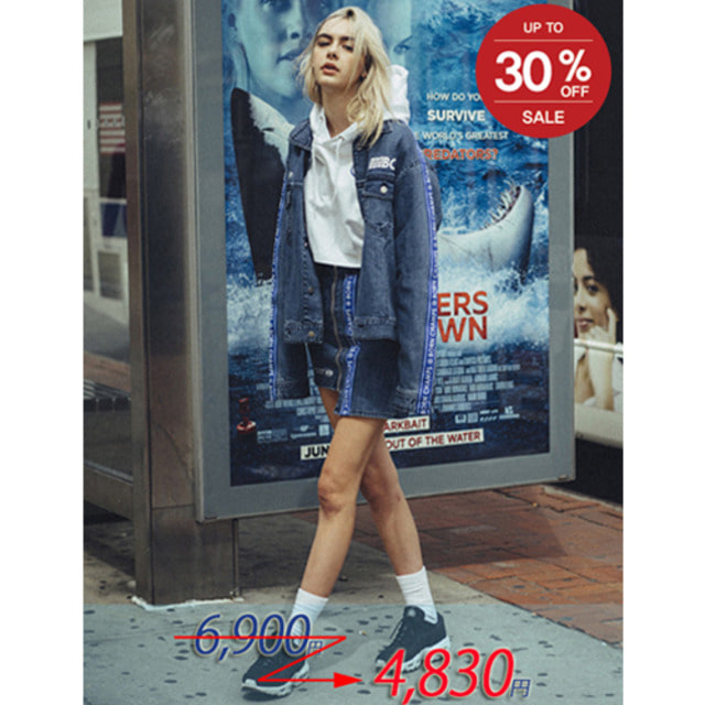 [BORN CHAMPS]BC IB DENIM SKIRT 01 BLUE CEQCGSK01BL
