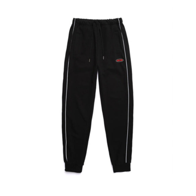 [UNIONOBJET] UNION ROUND LOGO TRAINING PANTS BLACK