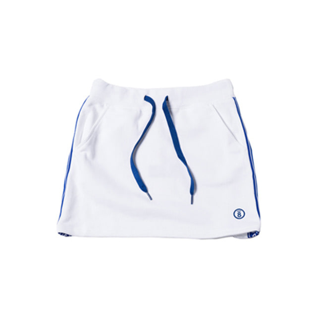 [BORNCHAMPS] BC TAPE SKIRT WHITE