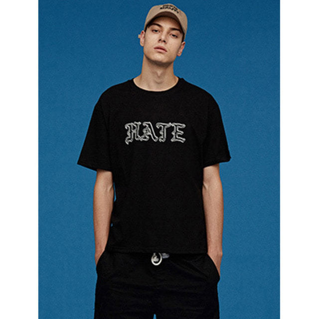 [UNION OBJET]SILERS X UNIONOBJET HATE T-SHIRT BLACK