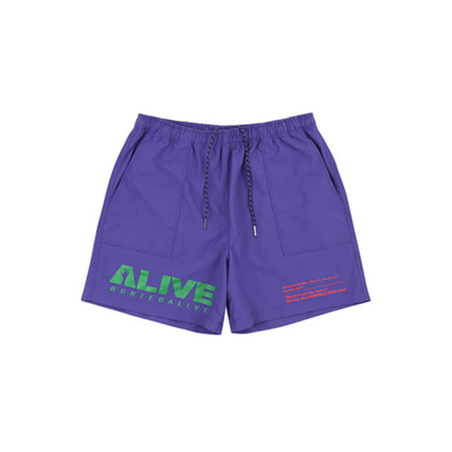 [BURIEDALIVE]BA ALIVE LOGO SHORT PANTS PURPLE