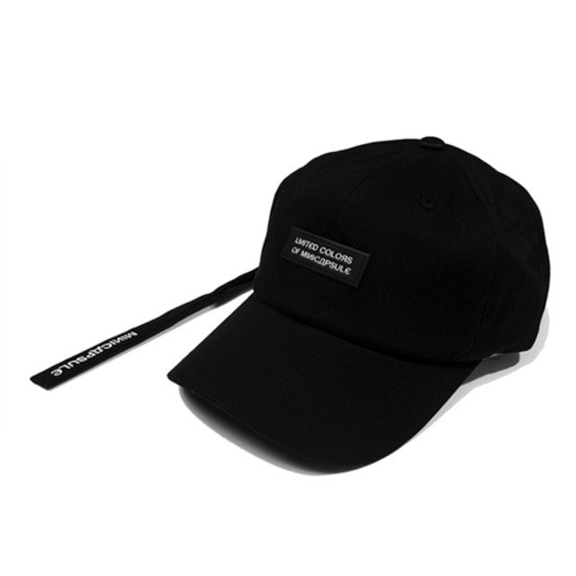 [MINICAPSULE] BASIC LOGO CAP BLACK