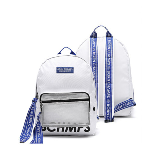 BORNCHAMPS X UNIONOBJET TAPE MESH POCKET WHITE