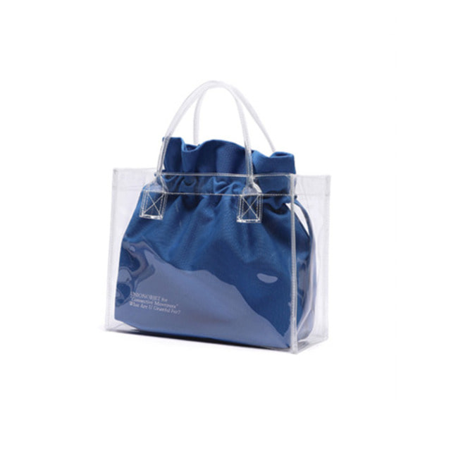 [UNIONOBJET]UNIONOBJET CLEAR BAG BLUE