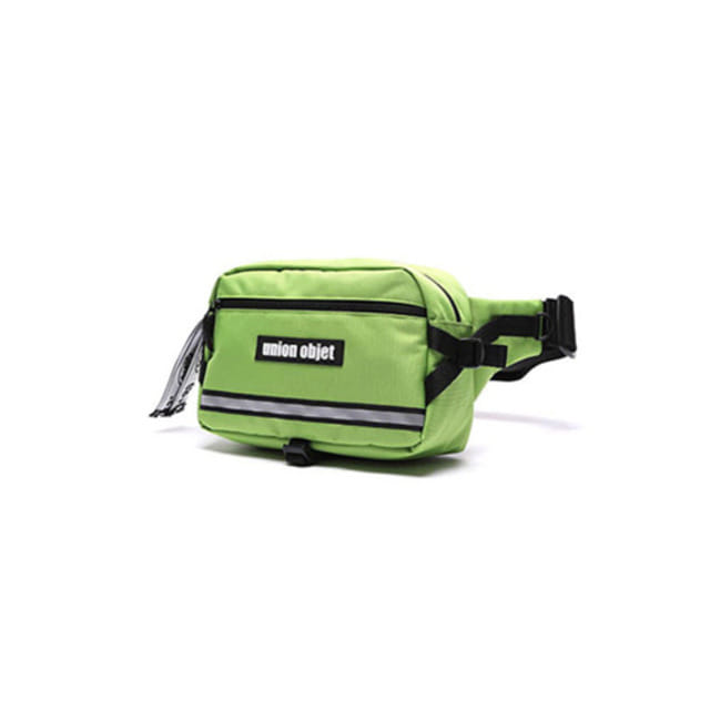[UNIONOBJET]UNION TECH WAIST BAG LIME_UNB着用