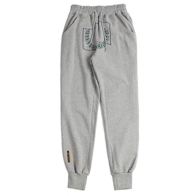 [ROMANTICCROWN] LAUREL CROWN JOGGER PANTS GREY