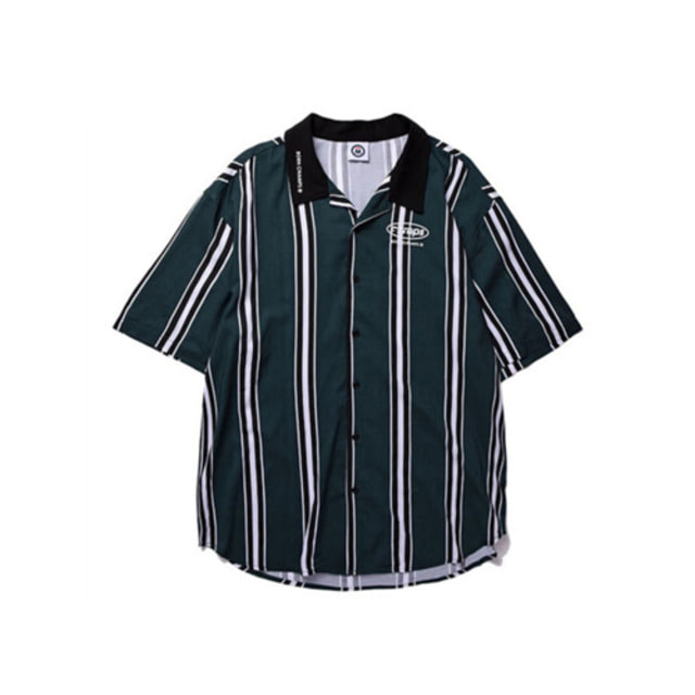 [BORNCHAMPS]BC LARGE STRIPED SHIRT GREEN CERBMSH02GR