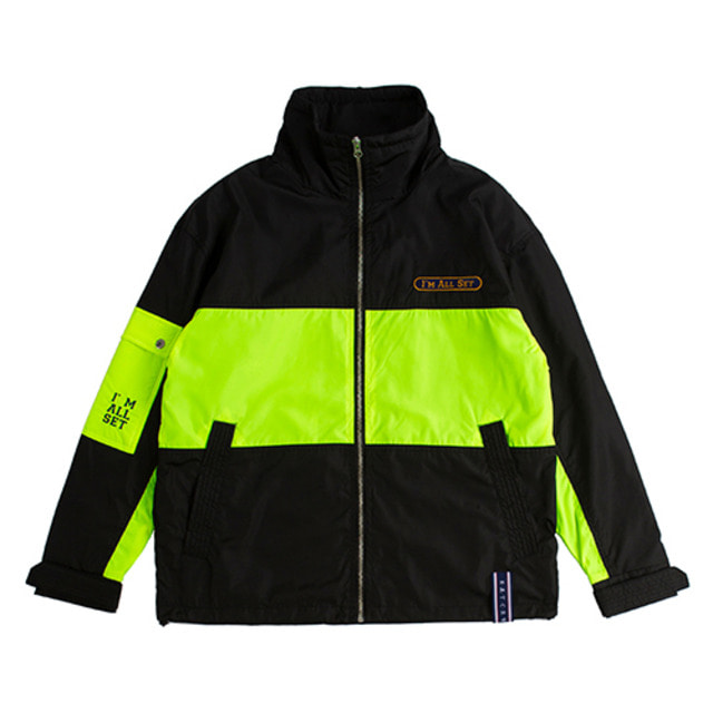 [ROMANTICCROWN] DRAWFIT RACING JACKET BLACK