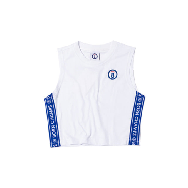 [BORN CHAMPS]BC LOGO SLEEVELESS WHITE