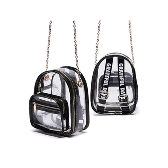 [UNIONOBJET]MINI CLEAR BAG - BLACK