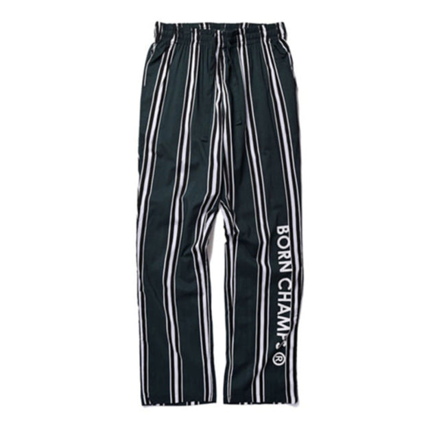 [BORN CHAMPS]BC LARGE STRIPED PANT GREEN