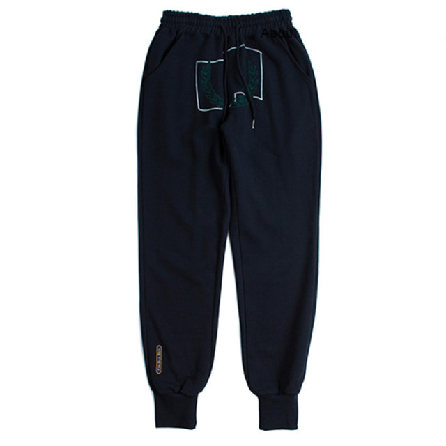 [ROMANTICCROWN] LAUREL CROWN JOGGER PANTS NAVY