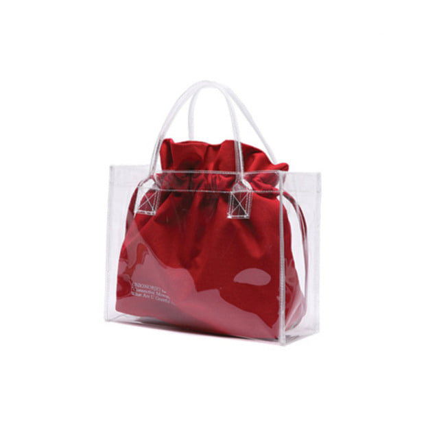 [UNIONOBJET]UNIONOBJET CLEAR BAG RED