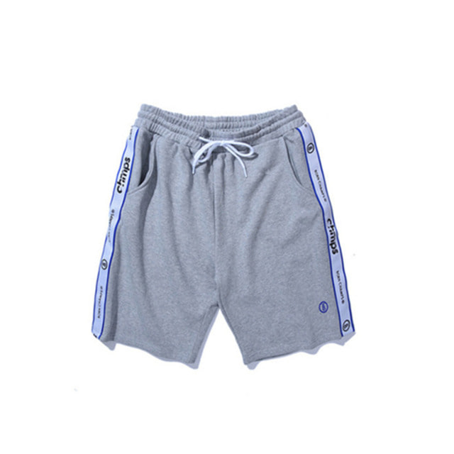 [BORN CHAMPS]TAPE SHORTS PANTS CERBMTP01GY