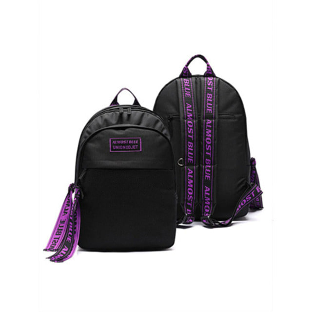 [UNIONOBJET]ULTRA VIOLET BACKPACK BLACK_SEVENTEEN着用