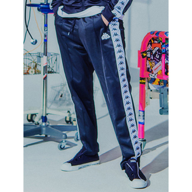 [BURIEDALIVE]BA X KAPPA FLEECE PANTS BLACK
