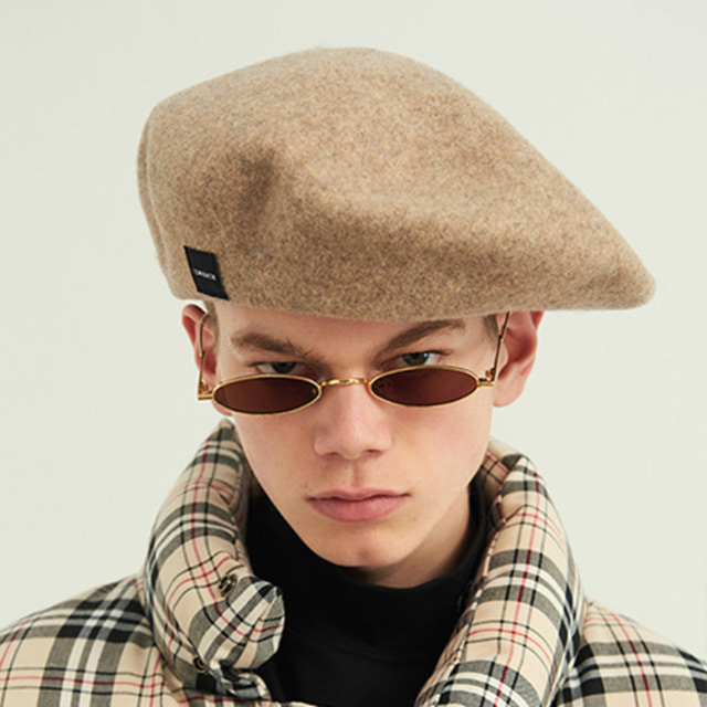 [13MONTH] WOOL WIDE BERET BEIGE
