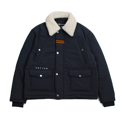 [ROMANTICCROWN] CHEST POCKET SHERPA JAKET NAVY