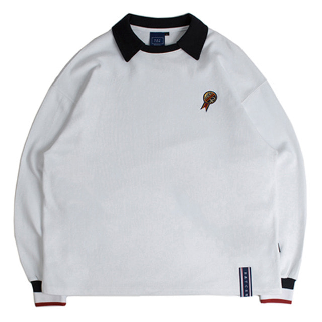 [ROMANTICCROWN] 24H COLLAR CREW NECK WHITE