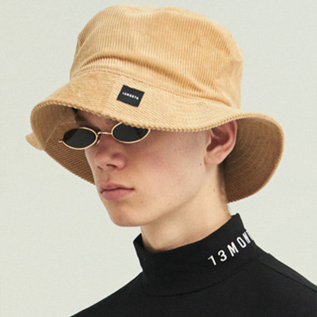 [13MONTH] CORDUROY BUCKET HAT BEIGE