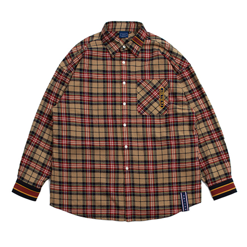 [ROMANTICCROWN] RMTCRW CHECK SHIRT BEIGE