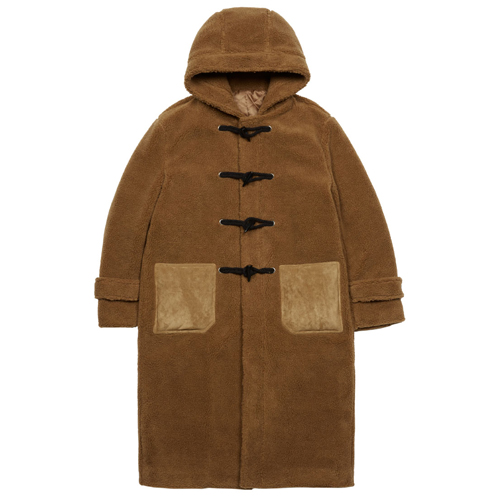 [JEUNESSE] LAMB DUFFLE COAT BROWN