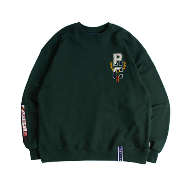 [ROMANTICCROWN] RC VIDEO SWEATSHIRT GREEN