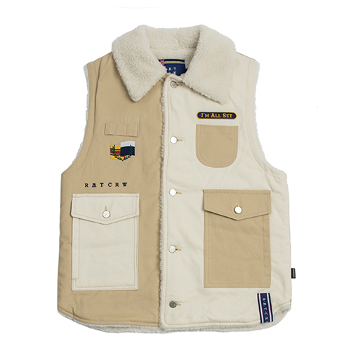 [ROMANTICCROWN] RETRO HUNTING VEST BEIGE