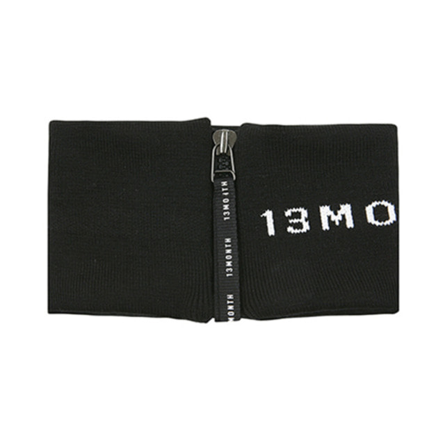 [13MONTH] ZIP-UP NECK WARMER LOGO BLACK
