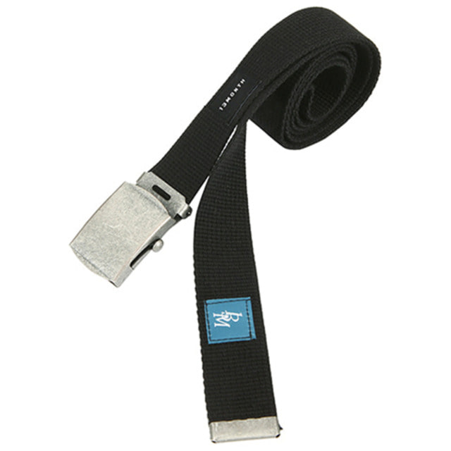 [13MONTH] SQUARE BUCKLE WEBBING BELT BLACK